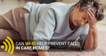 How can WiFi help prevent falls in care homes?